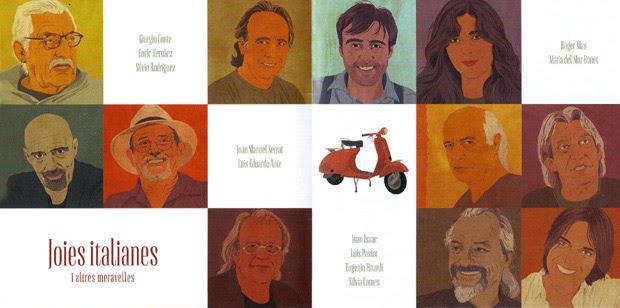 Interior del disco  «Joies italianes i altres meravelles» de Joan Isaac.