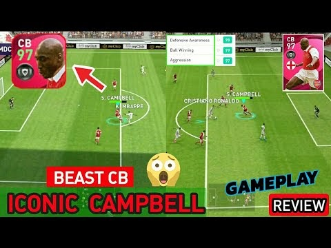 97 Rated Iconic CAMPBELL🔥 A Real Beast CB in PES 2021 Mobile | Iconic CAMPBELL Review
