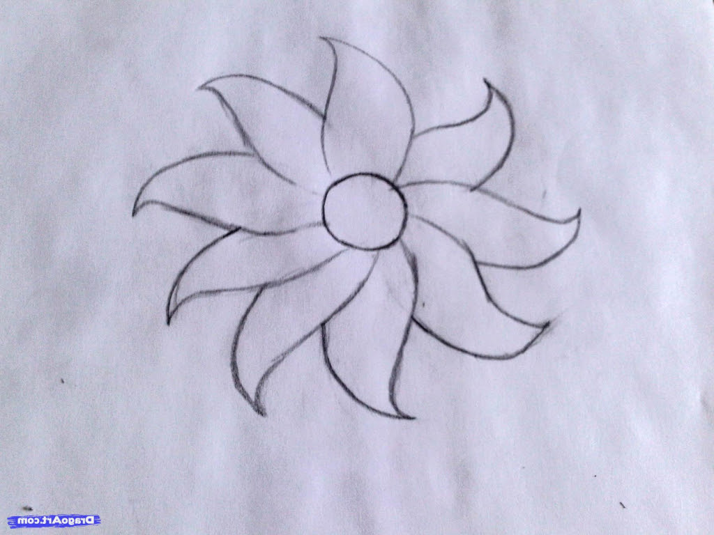 Sketch Easy Pictures Of Flowers To Draw The Design Interior
