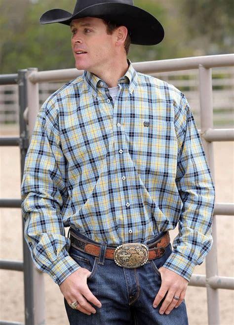 ship cinch jeans mens shirt western ls