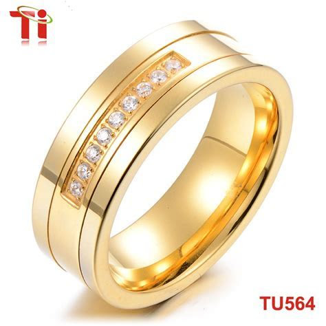 8mm Stone Inlaid Gold Ring Design For Men,Tungsten Carbide