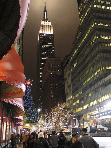 34th Street, lit up
