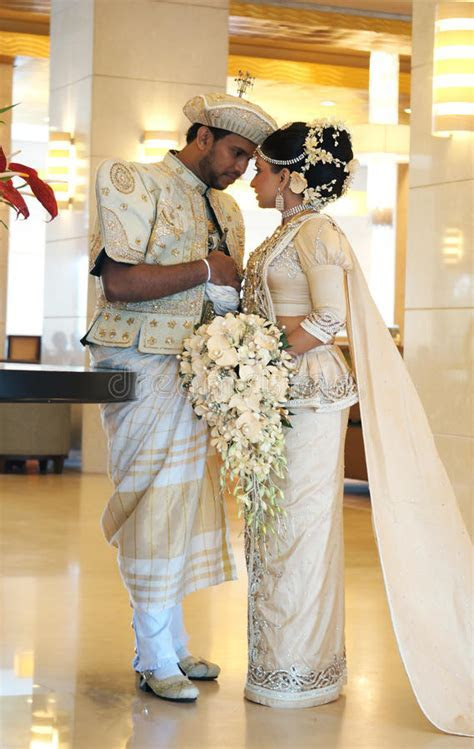 Bride And Groom In Sri Lanka Editorial Stock Photo   Image