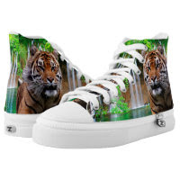 Tiger Zipz High Top Sneakers, Printed Shoes