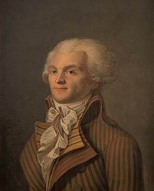 Portrait of Maximilien de Robespierre, oil on ...