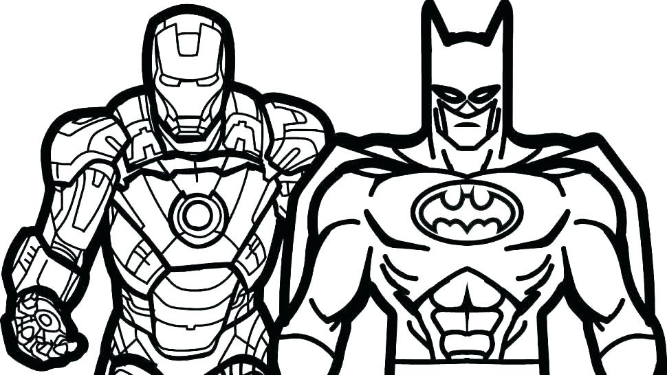 Printable Superhero Coloring Books Coloring Pages For Kids - Coloring And  Drawing