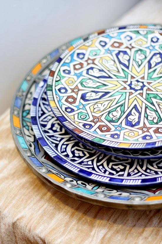 beautiful patterned plates