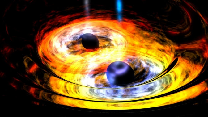 Artist's concept of two black holes