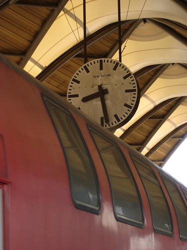 Clock and train