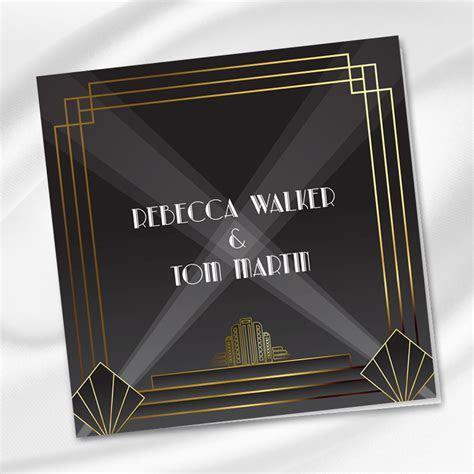 Art Deco Wedding Invitation Ireland   WeddingPrint.ie