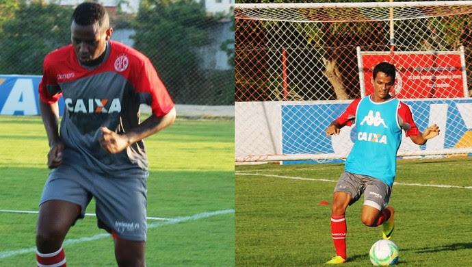 Lateral-direito Gustavo e zagueiro Cesinha dispensados América-RN (Foto: Canindé Pereira/Divulgação)