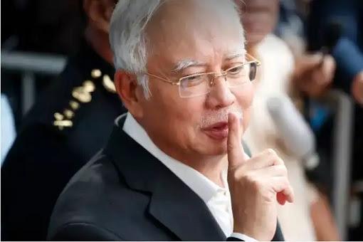 Najib Razak - Keep Quiet Gesture