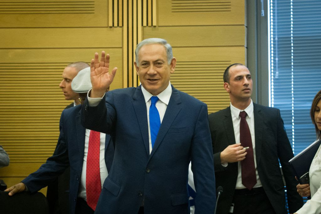 Prime Minister Benjamin Netanyahu in the Knesset on February 29, 2016. (Miriam Alster/FLASH90)