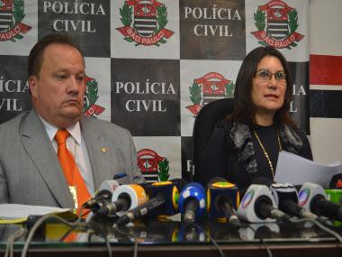 O delegado Arlindo José Negrão Vaz, titular da Divisão de Homicídios do DHPP, também participou da coletiva