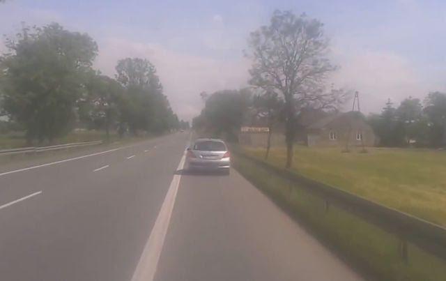 Truck Driver Takes Keys of Drunk Car Driver