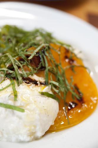 Heirloom Tomato and Mozzarella Salad w/ Picual Extra Virgin Olive Oil and Fig Balsamic Vinegar, Restaurant Lulu, San Francisco