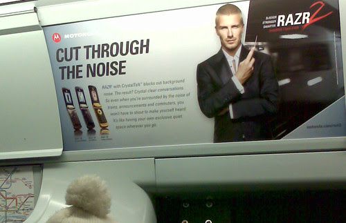 Beckham on the Tube