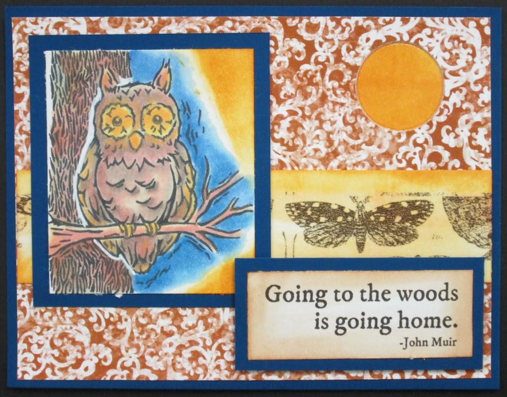 Inky Antics Owl in the Tree