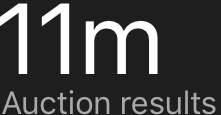 11m Auction Results