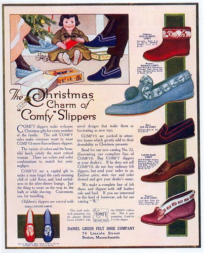 'Comfy' Slippers ad, 1914