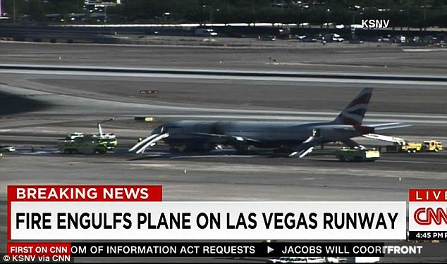 The plane was quickly evacuated and only two people were injured and taken to hospital