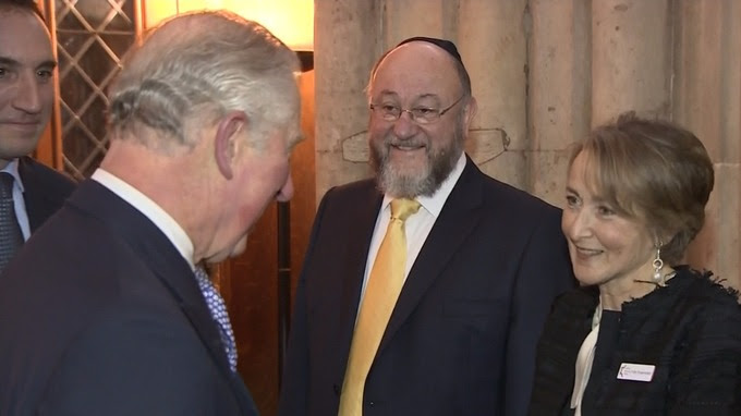 The prince meets Chief Rabbi Ephraim Mirvis
