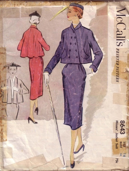 McCall's 8643 Slim Skirt and Lined Cropped Swing Jacket