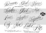 Nice Lettering Cursive Tattoo Fonts Design