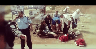 Abu Wadih Duheir - celebrating injured Israeli