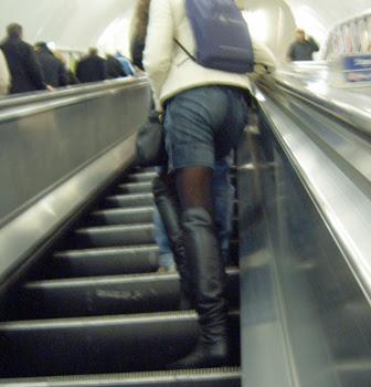 Denim Shorts & Boots
