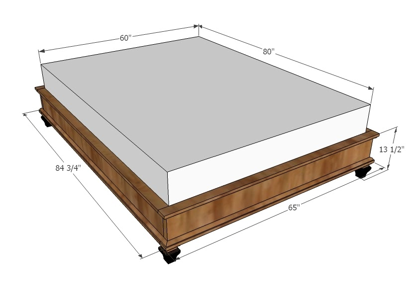 Here Diy king bed frame plans ~ drop work