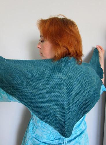 Blackcurrant shawl