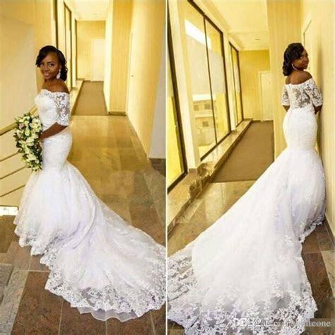 New Design 2017 Plus Size Arabic Mermaid Wedding Dresses