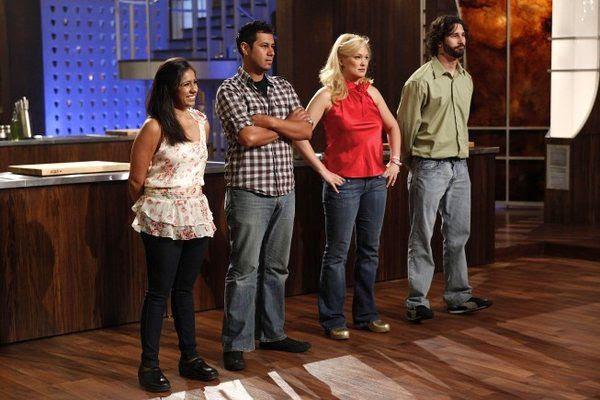 Suzy Singh, Adrien Nieto, Jennifer Behm and Christian Collins in last night's episode of MASTERCHEF.