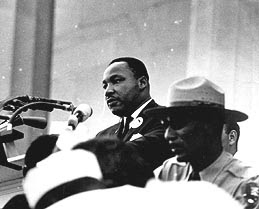 Martin Luther King, Jr., delivering his 'I Have a Dream' speech from the steps of Lincoln Memorial. (photo: National Park Service)