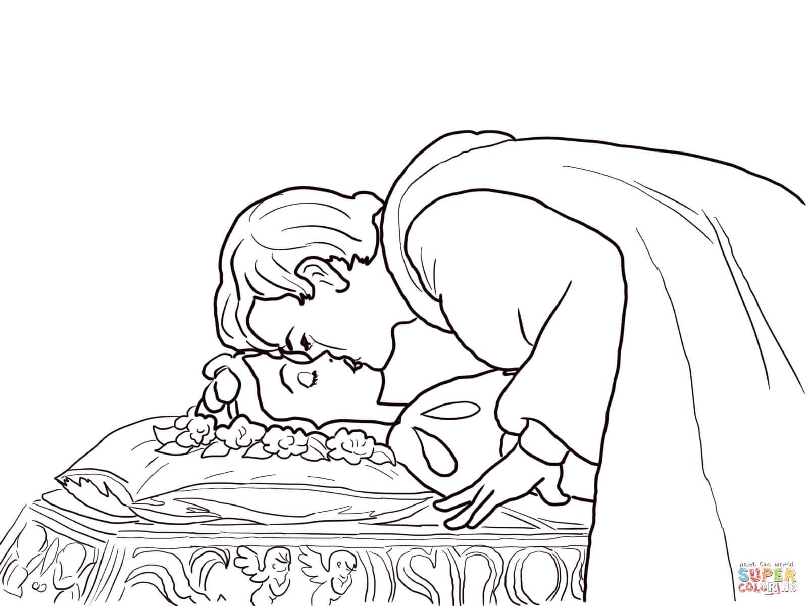 Klick das Bild Der Prinz küsst Schneewittchen