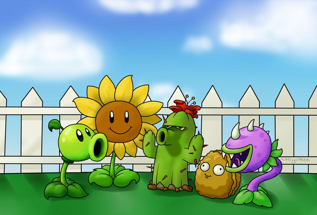 COMM: Plants Vs Zombies by Hiyukee on DeviantArt