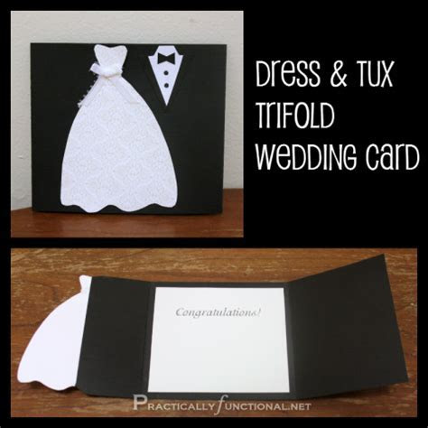 DIY Wedding Card: Dress & Tux Trifold {  Printable   PIN