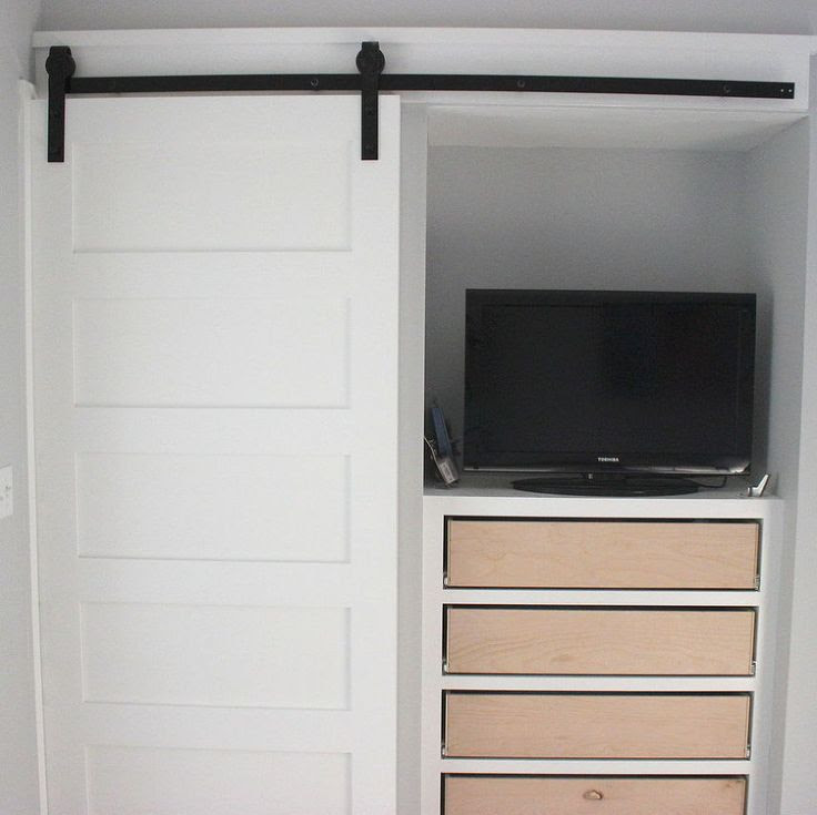 Hanging sliding closet door track is easy to install ...