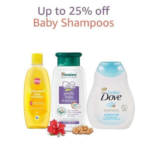 Up to 25% off: Baby Shampoos