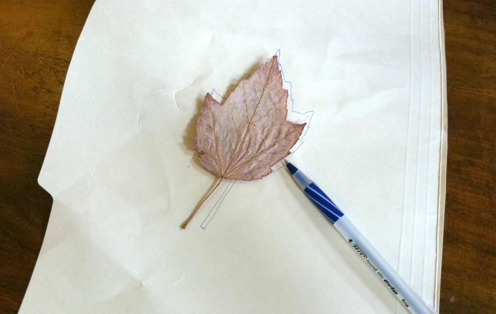 Leaf stencil trace