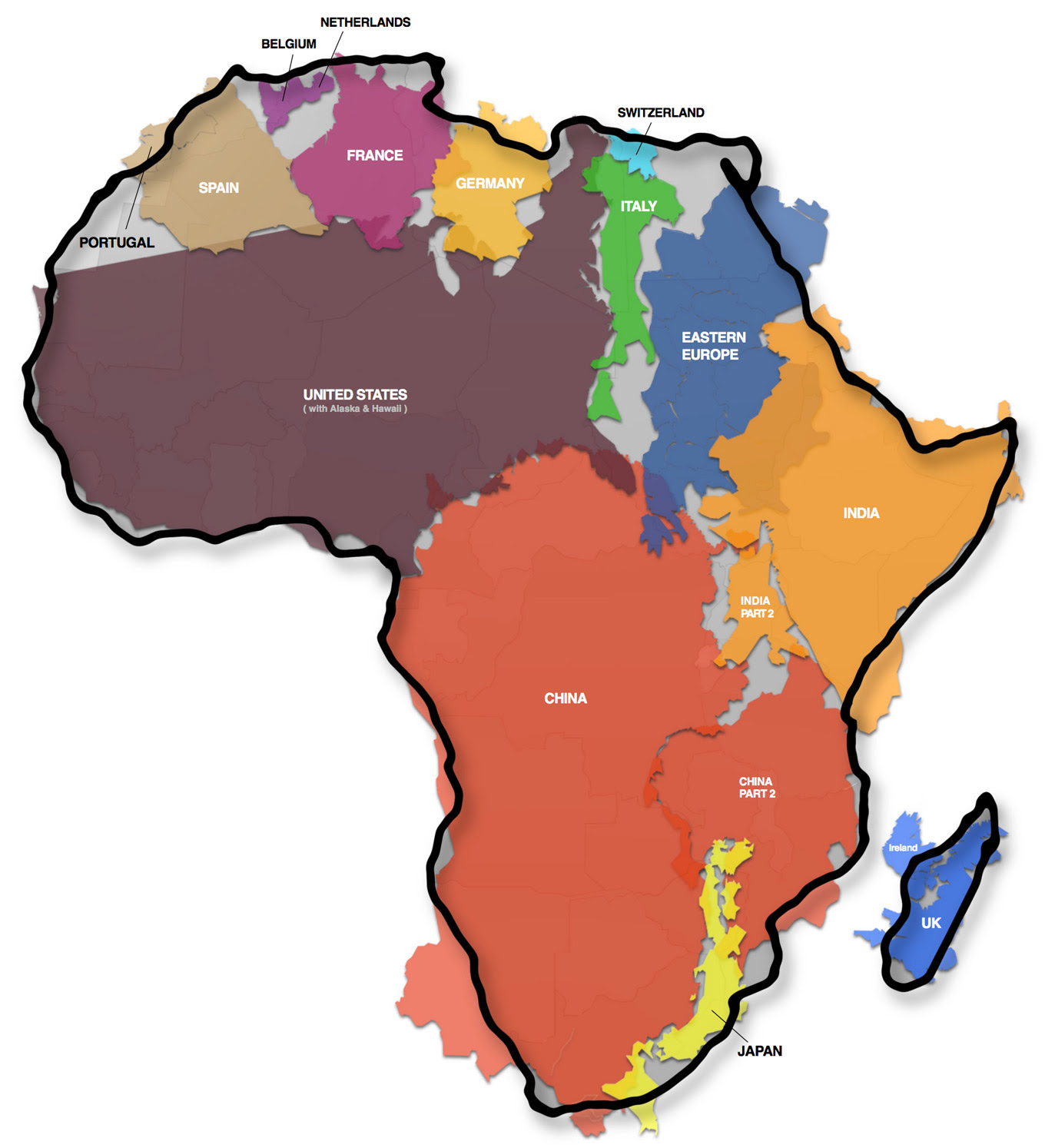 The True Size of Africa