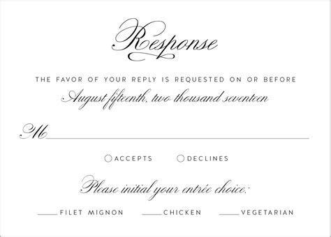 wedding invitation reply card wording : wedding response