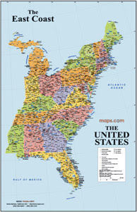 map of the usa east coast 100 images united states map with
