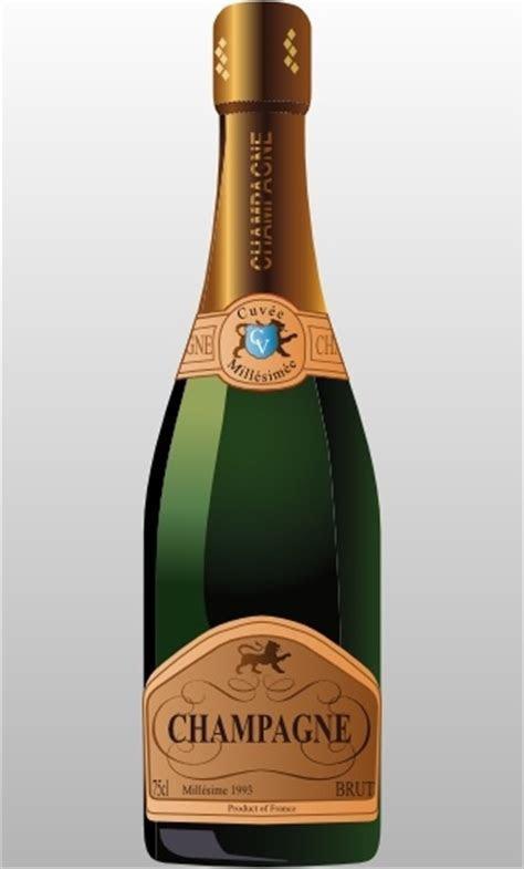 Bottle Of Champagne clip art Free vector in Open office