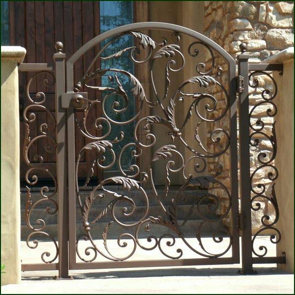 small iron door design    Red Iron Doors
