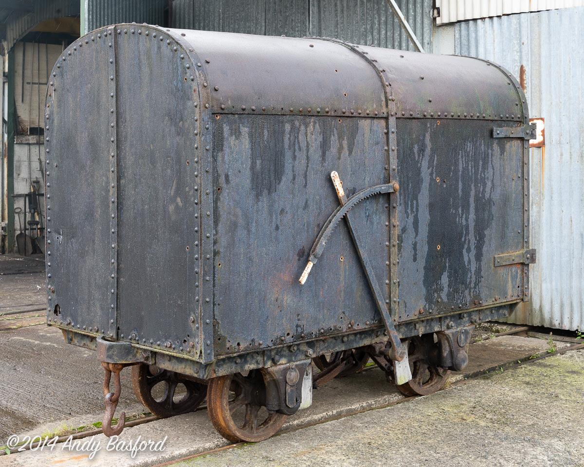 Gunpowder Wagon at Llanuwchlynn Station on the Bala Lake Railway, 15/8/14