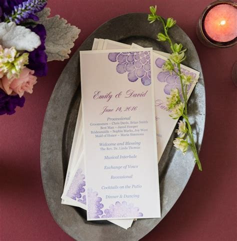 Printing your own DIY wedding programs is easy with Avery