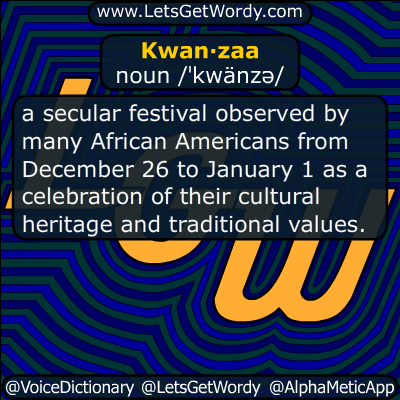 Kwanzaa 12/26/2017 GFX Definition
