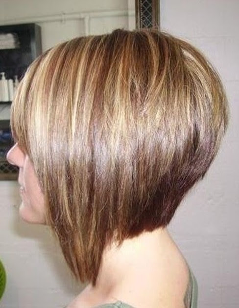 Bob Hair – Side View of Graduated Bob Hairstyle – Short Hairstyles